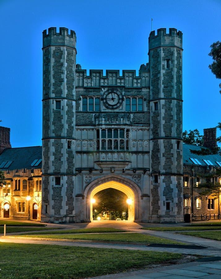 Construção histórica no terreno de Universidade de Princeton imagem de stock