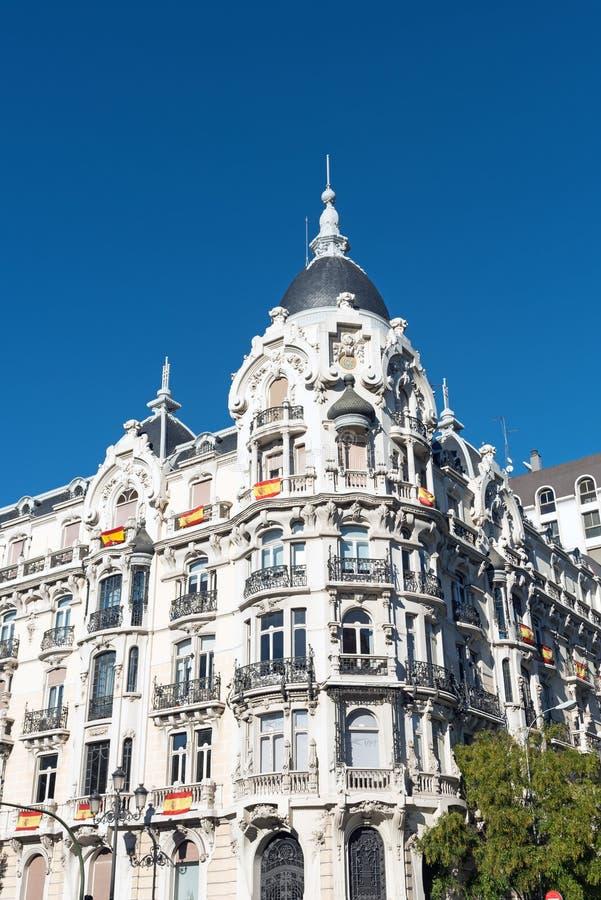 Construção histórica vista no Madri imagem de stock