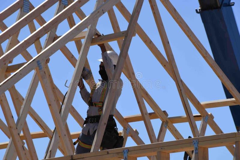 Construção home nova que quadro no sudoeste fotos de stock