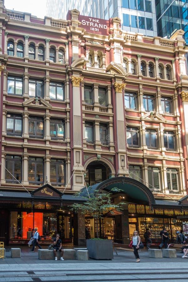 A construção icónica da costa em George Street, Sydney Australia foto de stock royalty free