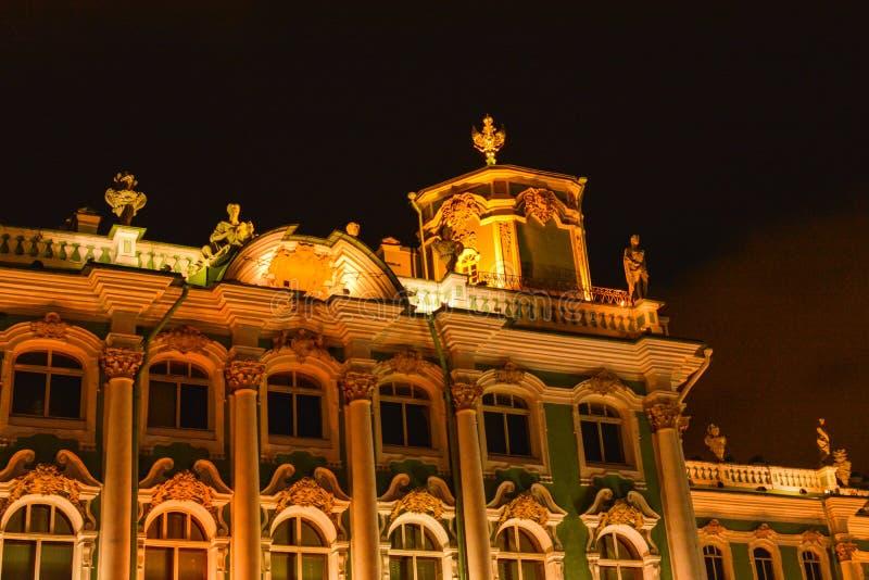 Construção iluminada bonita em St Petersburg imagem de stock royalty free