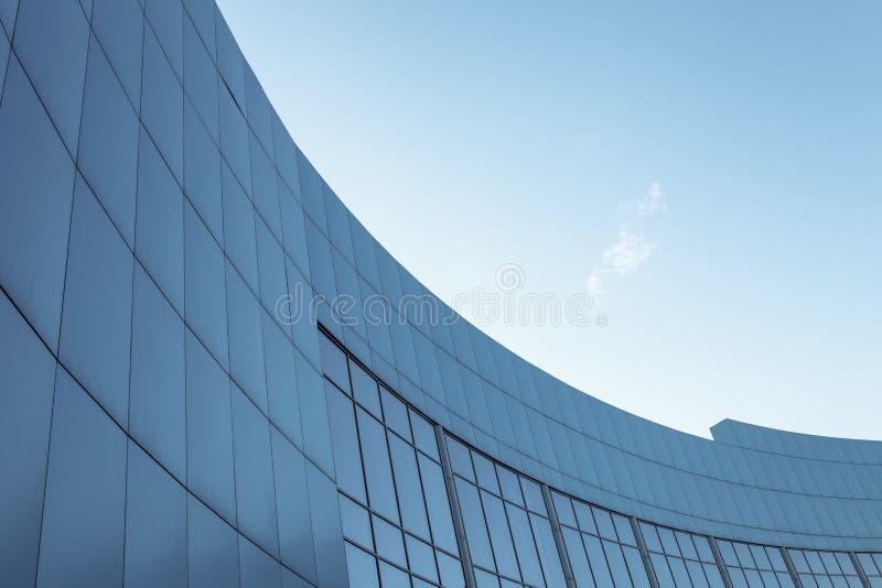 Construção incorporada no fundo do céu azul com lugar para o texto imagens de stock royalty free