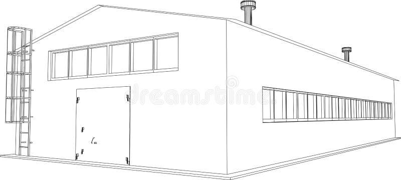 Construção industrial ilustração royalty free