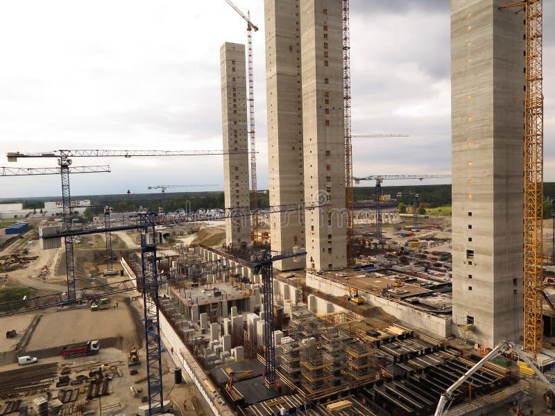Construção industrial da facilidade foto de stock