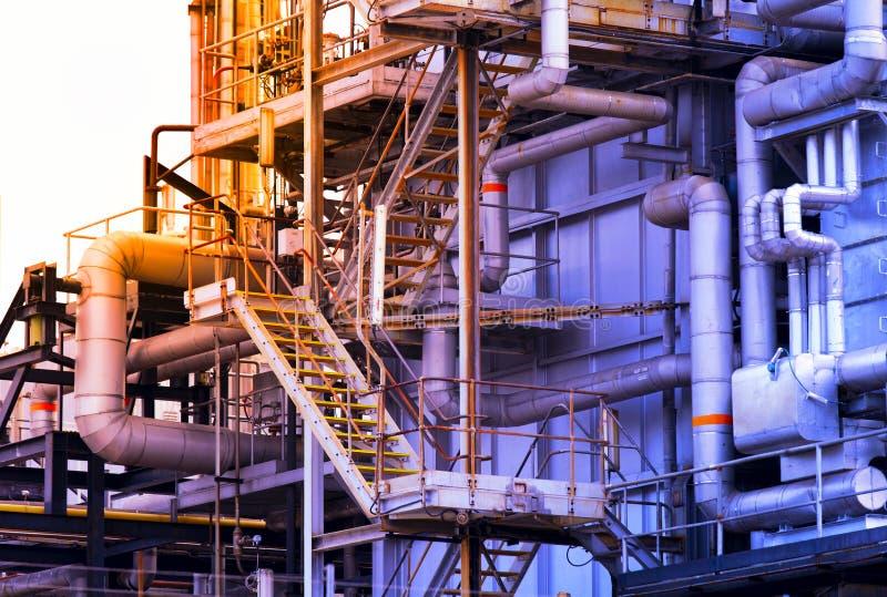 Construção industrial, encanamentos de aço fotos de stock