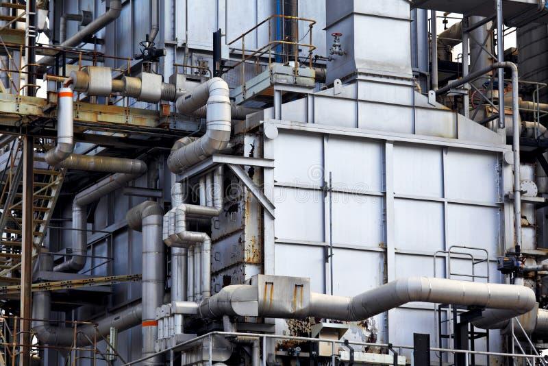 Construção industrial, encanamentos de aço foto de stock royalty free