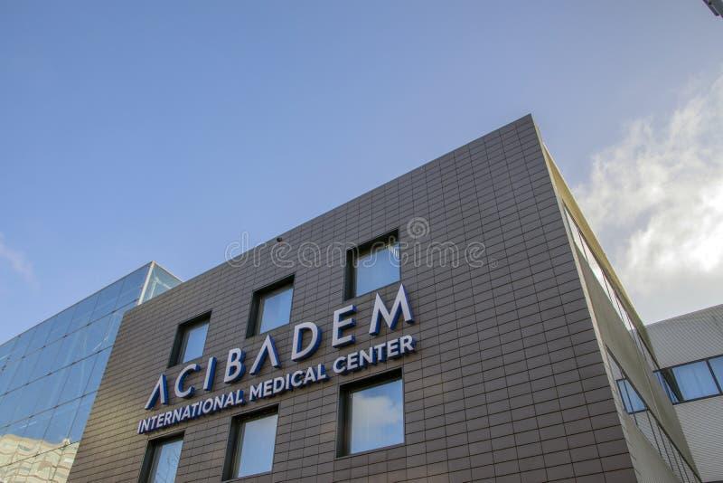 Construção internacional do centro médico de ACIBADEM em Amsterdão os Países Baixos 2018 foto de stock