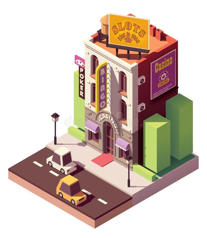 Construção isométrica do casino do vetor ilustração royalty free