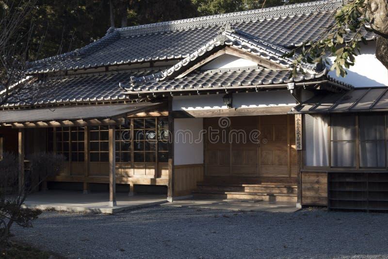 Construção japonesa velha, dojo do Aikido fotografia de stock royalty free