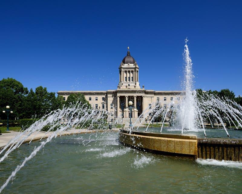Construção legislativa de Manitoba foto de stock