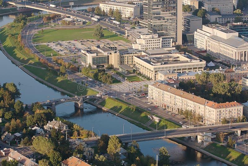 A construção lituana do parlamento em Vilnius fotos de stock royalty free