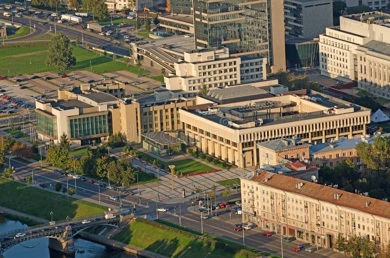 A construção lituana do parlamento em Vilnius foto de stock