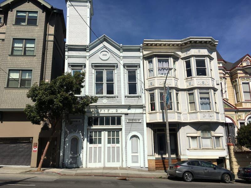 A construção a mais velha da sobrevivência do ` s de San Francisco Fire Department, 1 fotografia de stock royalty free