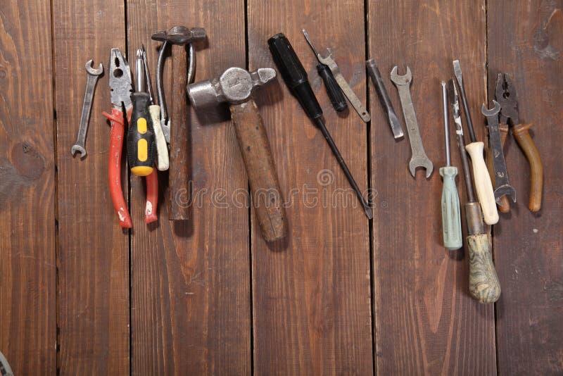 A construção martela alicates da ferramenta do reparo da chave de fenda imagem de stock royalty free