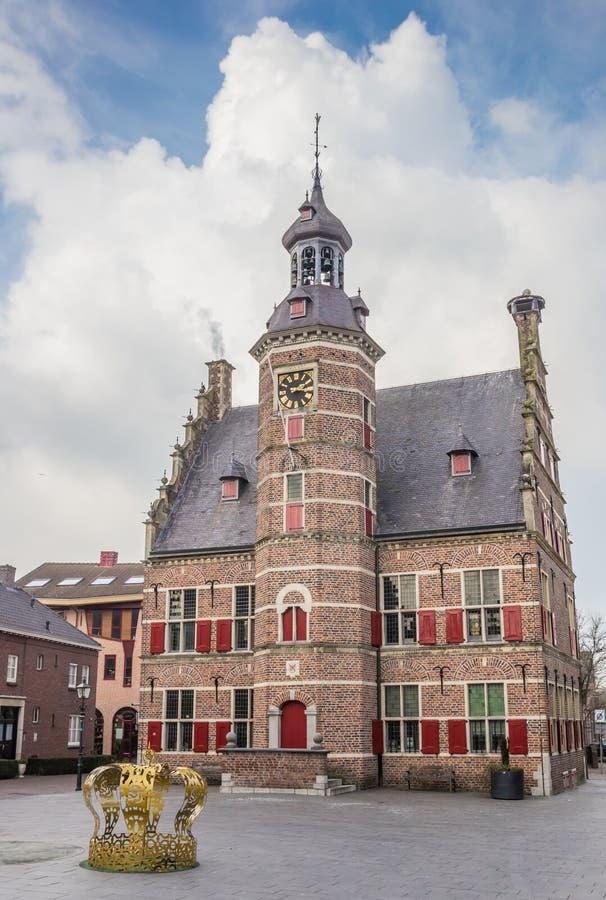 Construção medieval de het Petershuis do museu em Gennep imagens de stock royalty free