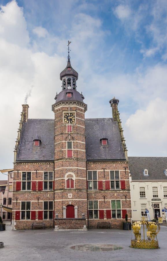 Construção medieval de het Petershuis do museu em Gennep imagem de stock royalty free
