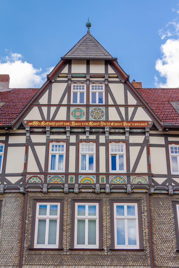 Construção metade-suportada tradicional da casa fotografia de stock royalty free