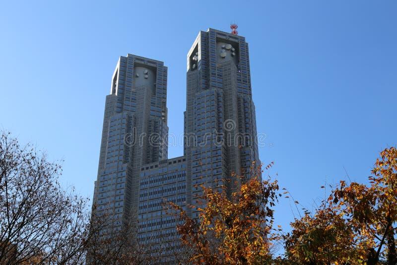 Construção metropolitana do governo do Tóquio imagem de stock