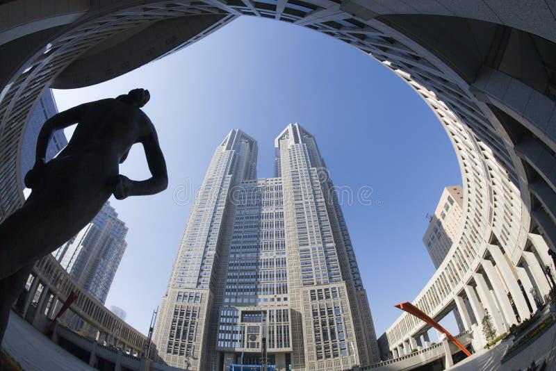 Construção metropolitana do governo do Tóquio de Japão imagem de stock