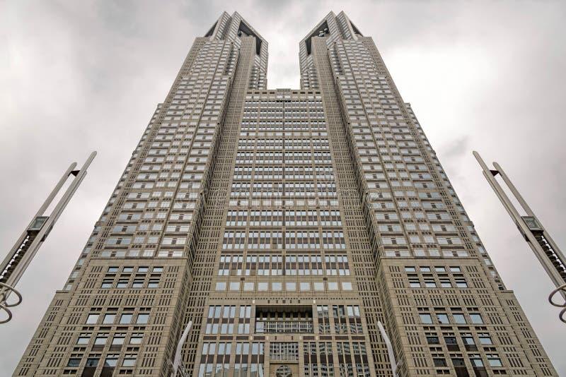 Construção metropolitana do governo do Tóquio na divisão de Shinjuku, Japão fotos de stock royalty free