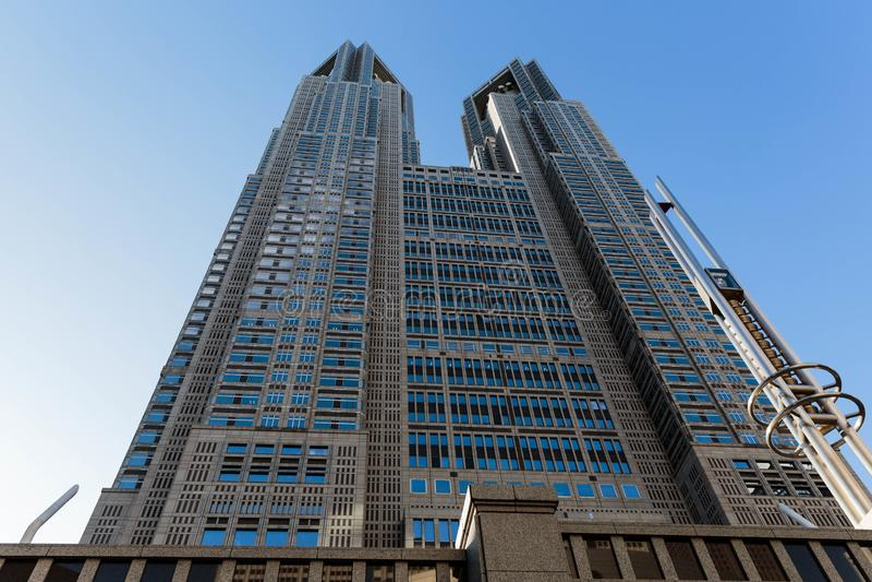 Construção metropolitana do governo do Tóquio de Japão imagens de stock royalty free