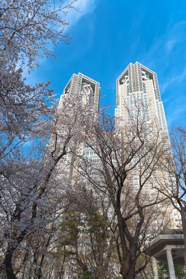 Construção metropolitana do governo do Tóquio & de negócio de Shinjuku construções do marco fotos de stock