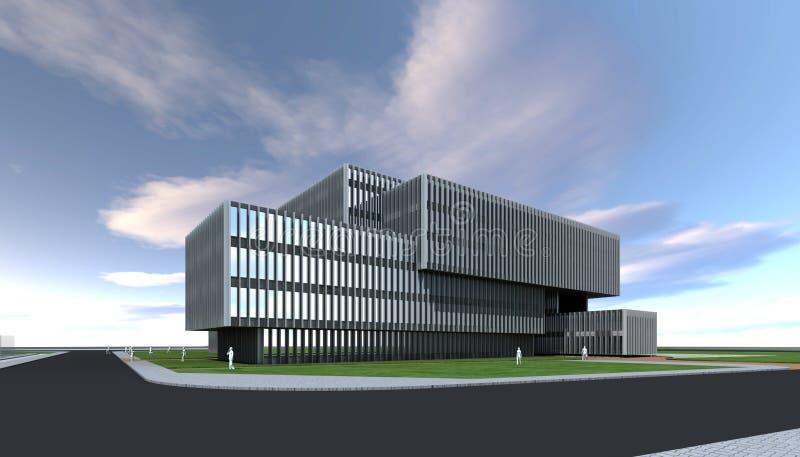 Construção moderna do conceito do arquiteto imagens de stock