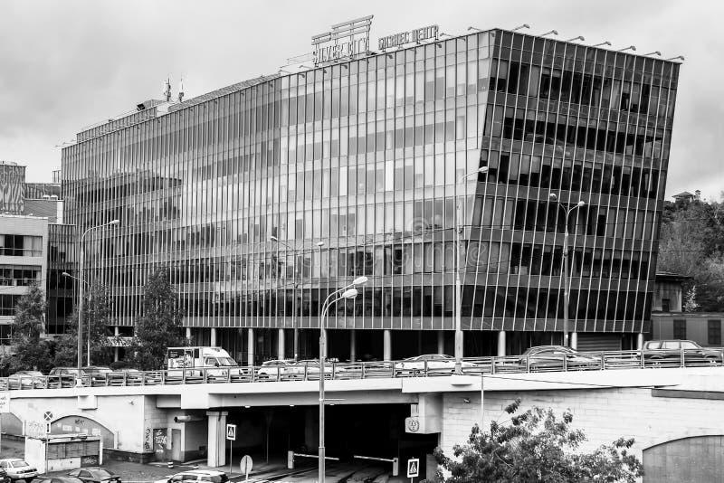 Construção moderna do ` da cidade da prata do ` do centro de negócio, Moscou do centro, Rússia fotografia de stock