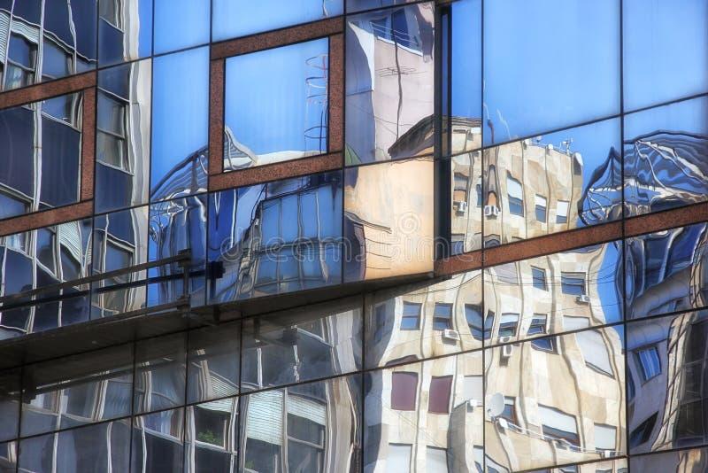 Construção moderna em Belgrado imagem de stock royalty free