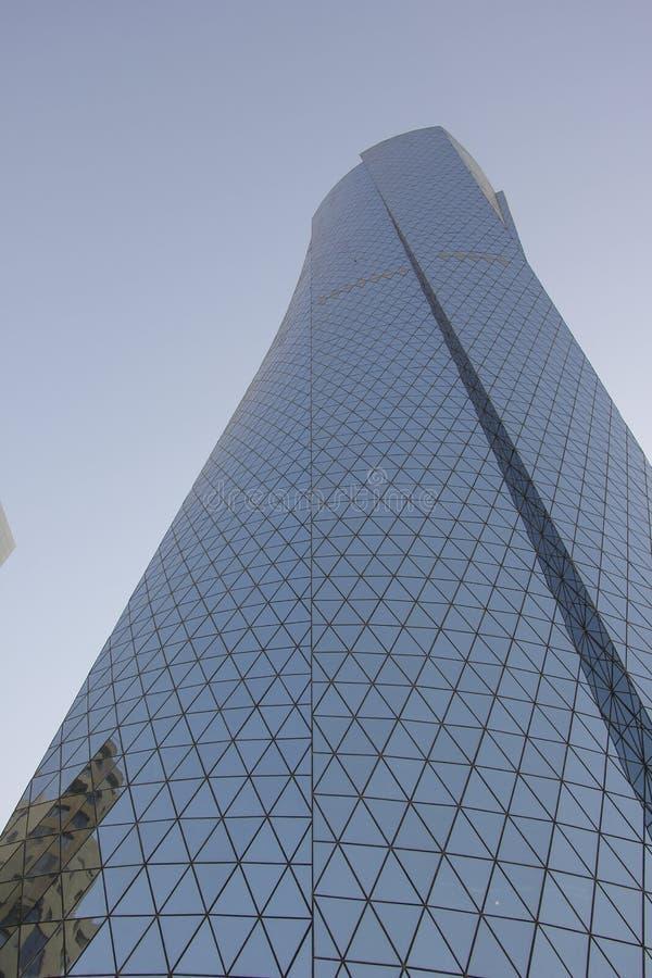 Construção moderna em Doha imagem de stock