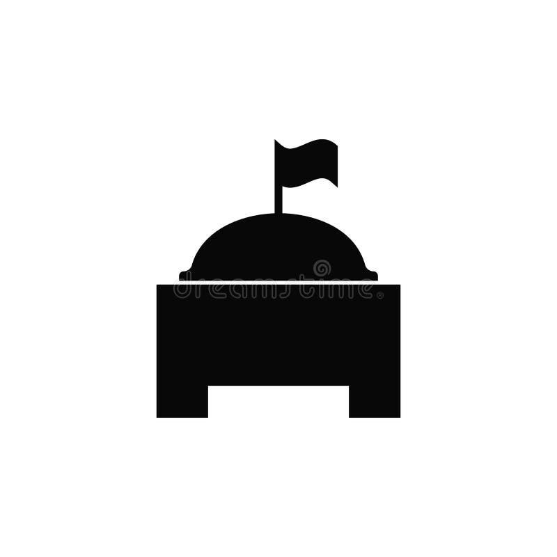 Construção monumental, ícone Elemento do ícone simples para Web site, design web, app móvel, infographics Linha grossa ícone para ilustração do vetor