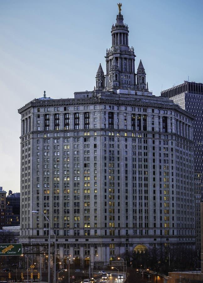 Construção municipal de Manhattan fotografia de stock