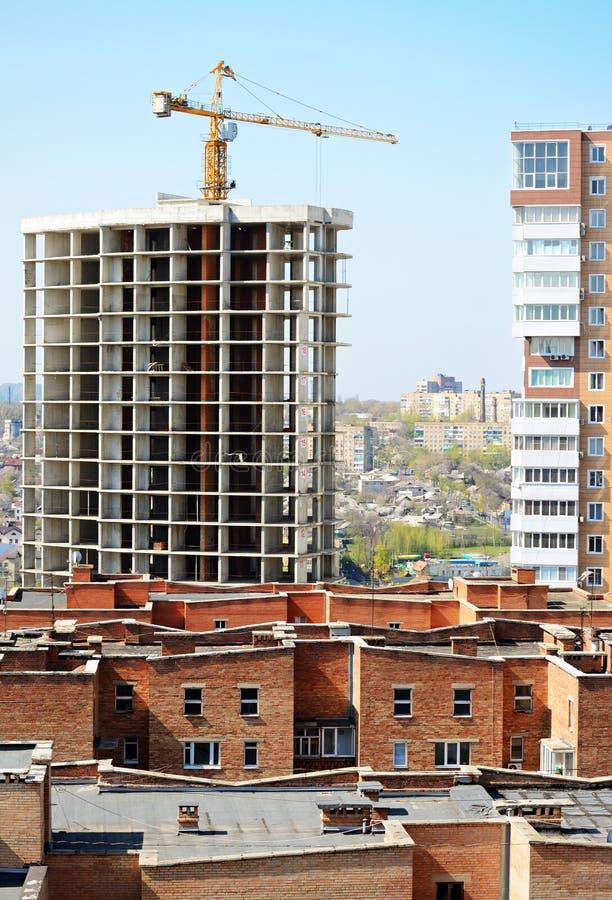 Construção na cidade foto de stock royalty free