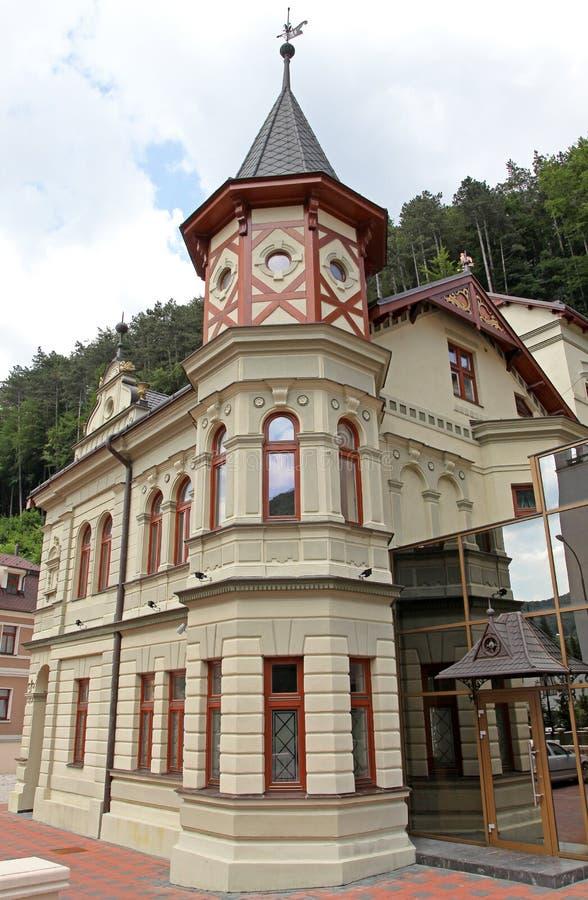 Construção na cidade Trencianske Teplice fotografia de stock royalty free
