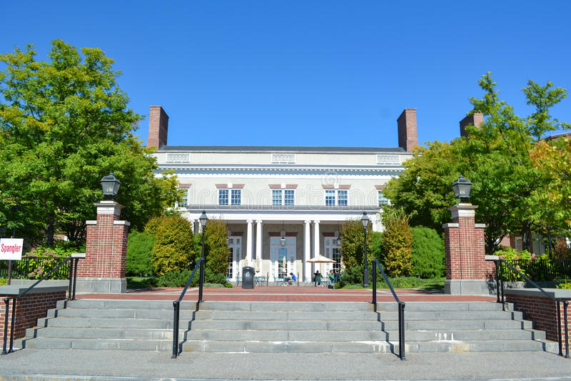 Construção na escola de Harvard Business fotografia de stock royalty free