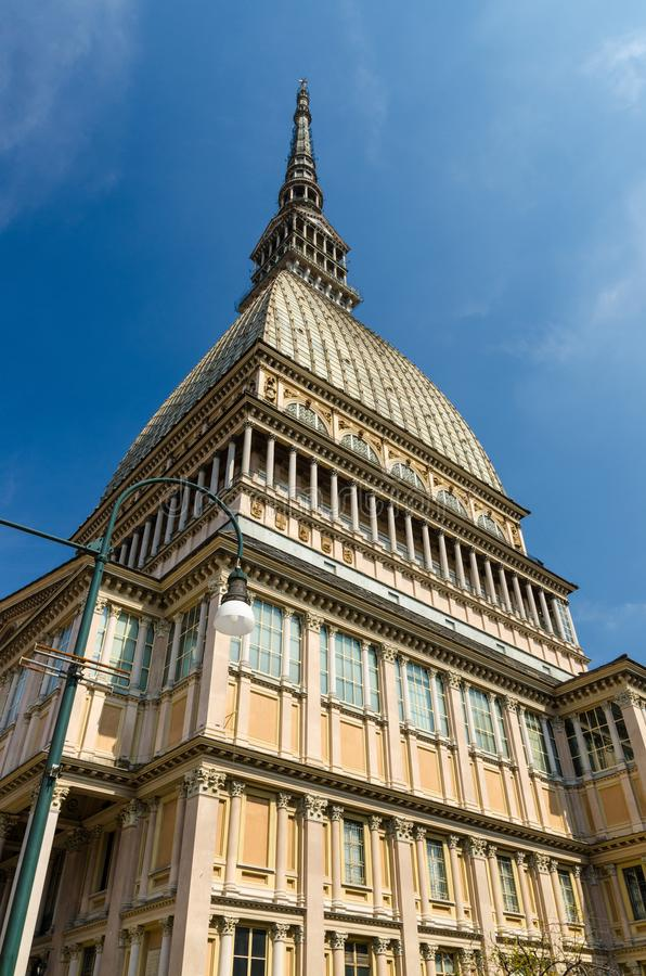 Construção nacional do museu do cinema da torre de Antonelliana da toupeira fotografia de stock royalty free