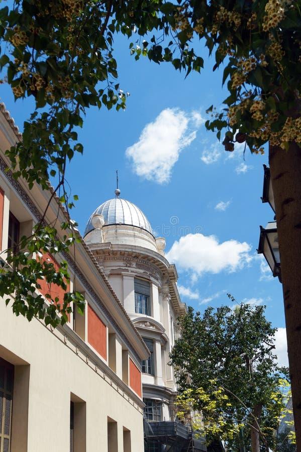 Construção neoclássico abobadada, Atenas, Grécia imagens de stock royalty free