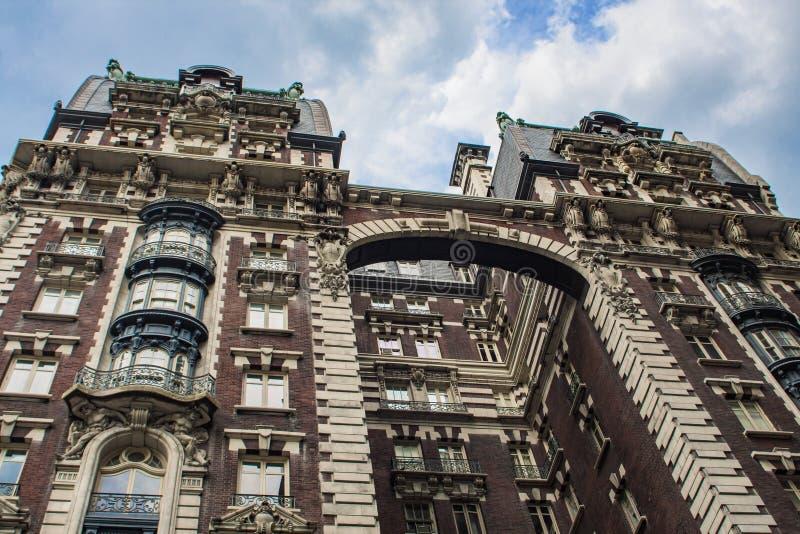 Construção no lado oeste superior em New York imagens de stock royalty free
