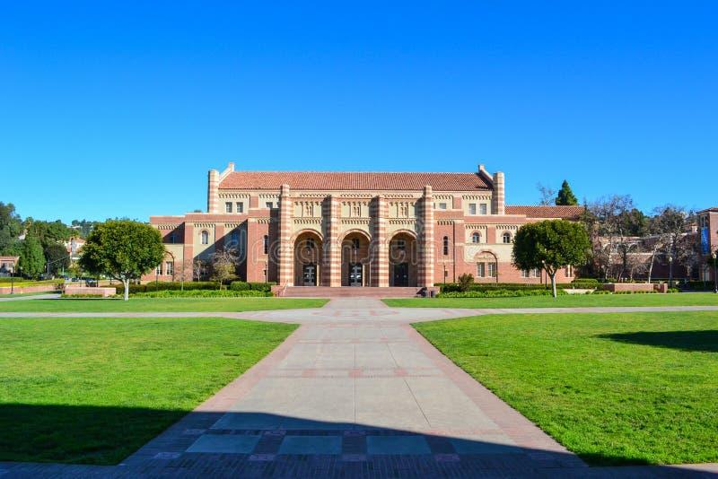 Construção no terreno da faculdade do UCLA imagem de stock royalty free