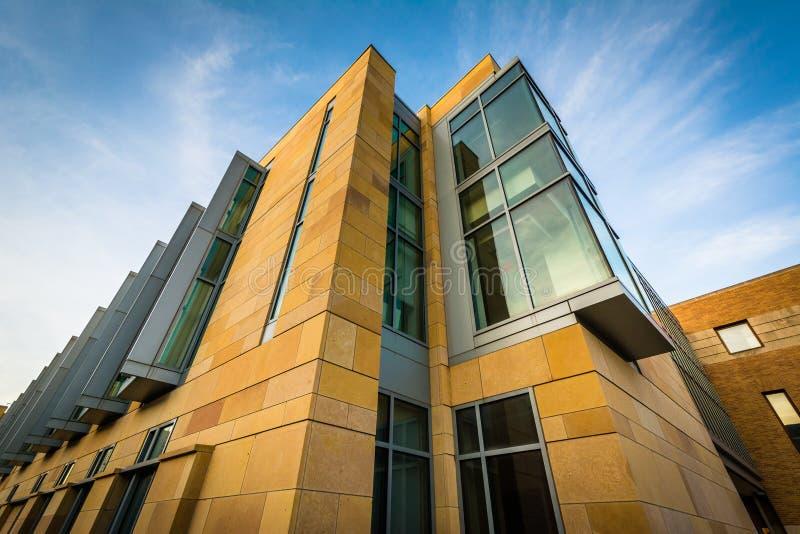 Construção no terreno de Yale University, em New Haven, Massach imagem de stock