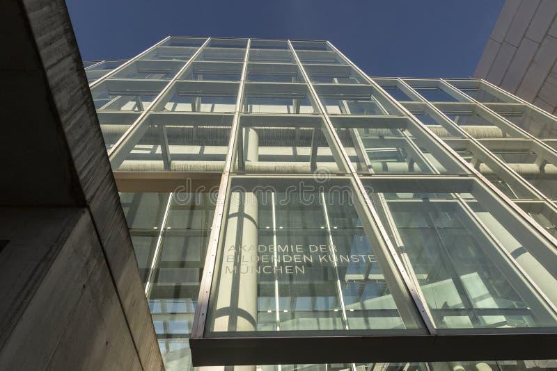 Construção nova da academia das belas artes em Munich fotografia de stock royalty free