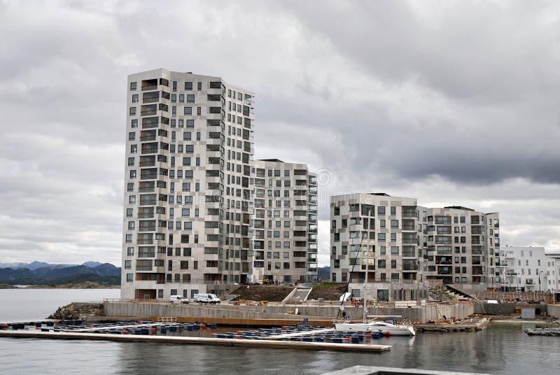 Construção nova em Lervig Stavanger fotos de stock royalty free