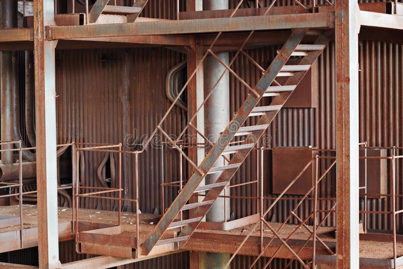 Construção oxidada velha do metal imagem de stock