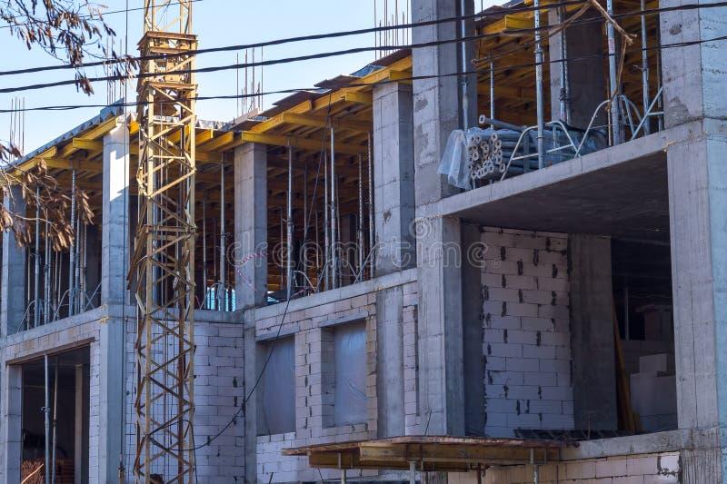 construção pelo método concreto reforçado imagens de stock