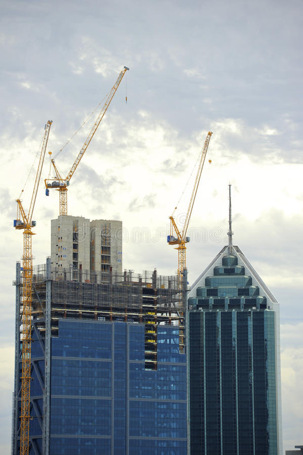 Construção Perth CBD imagens de stock royalty free