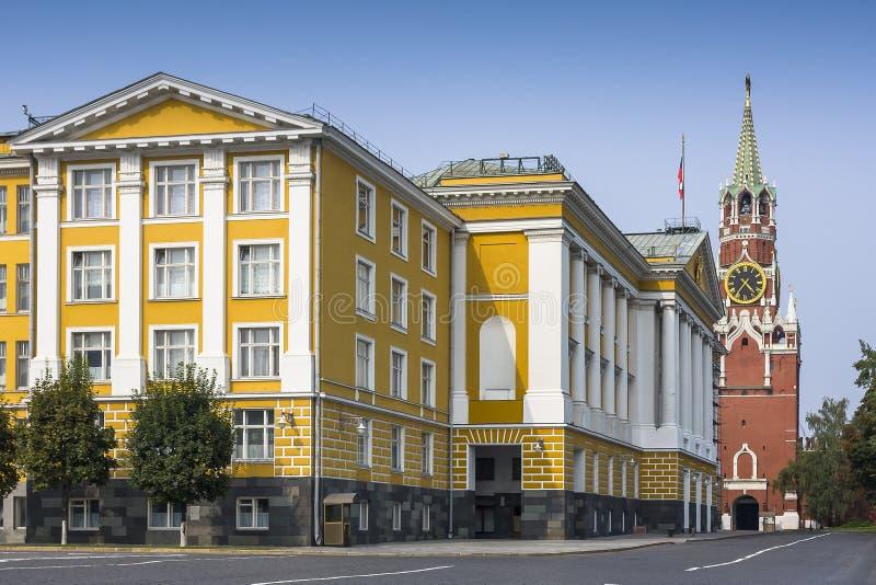 Construção próxima quadrada de Ivanovskaya 14a do Kremlin de Moscou imagem de stock royalty free