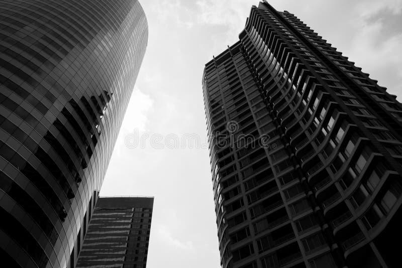 Construção preto e branco fotografia de stock royalty free