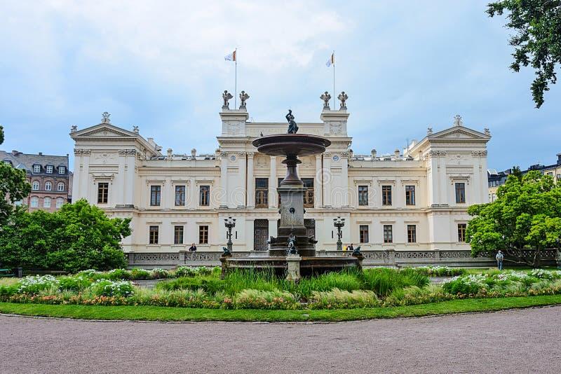 Construção principal da universidade de Lund imagens de stock