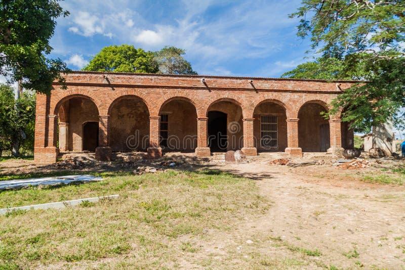 Construção principal do moinho de açúcar San Isidro de los Destiladeros no vale de Valle de los Ingenios perto de Trinidad, Cu fotos de stock royalty free