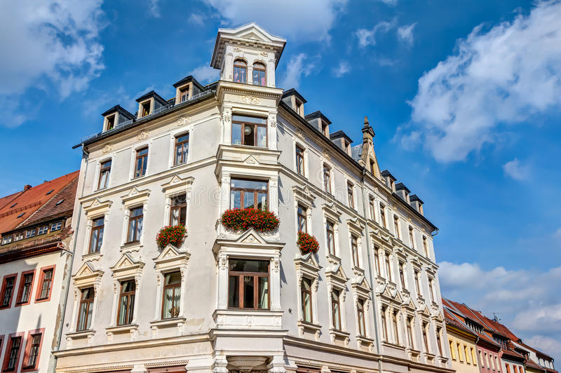 Construção representativa em Freiberg imagens de stock royalty free